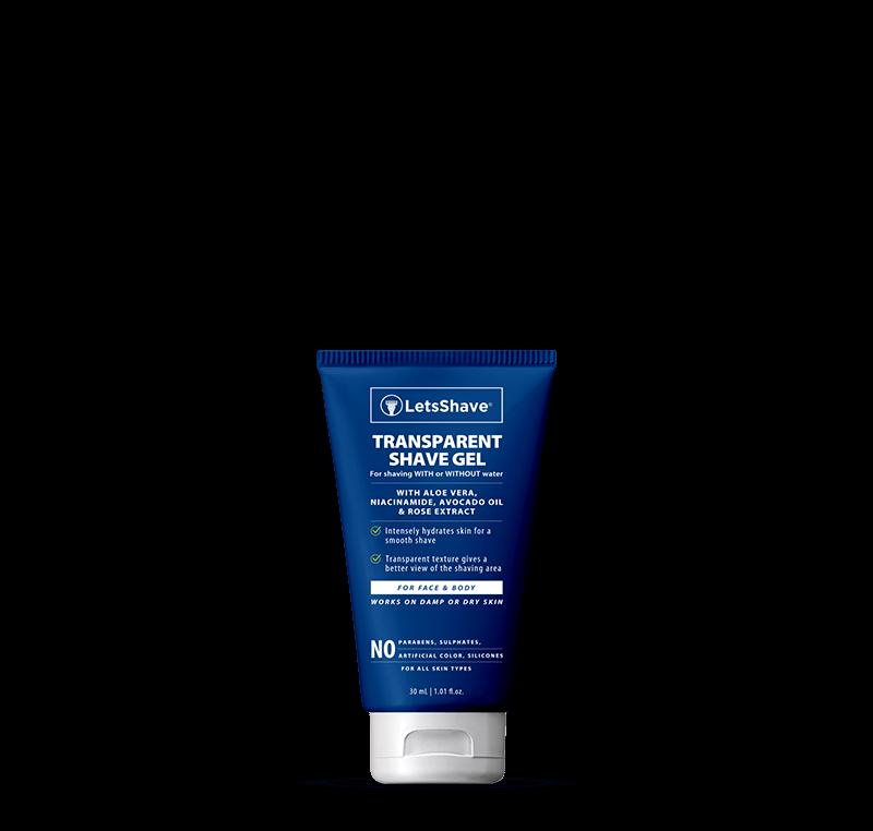 Transparent shave gel - 30 ml