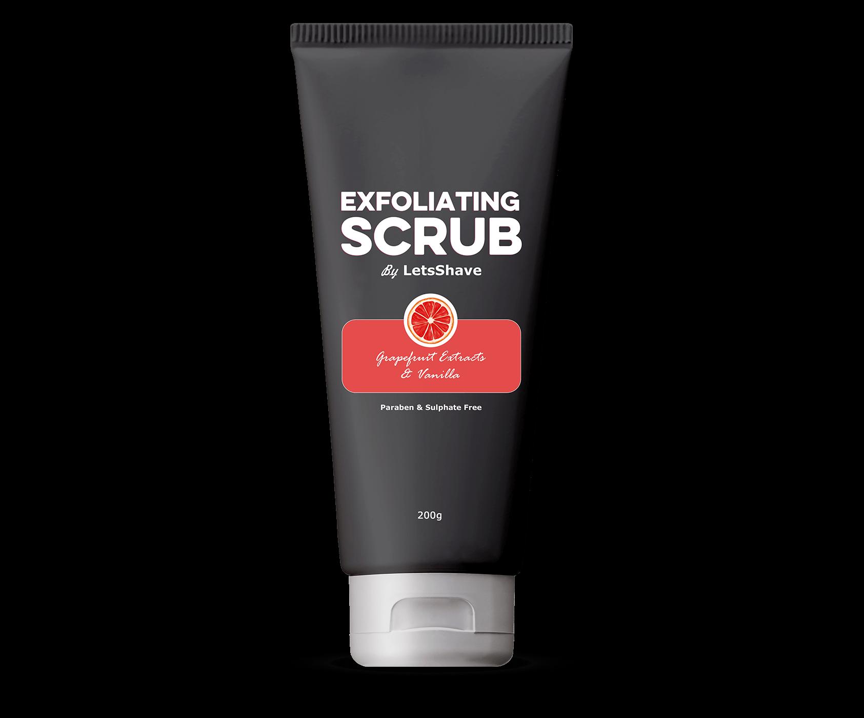 Letsshave Grapefruit Body Scrub Exfoliating Scrub For